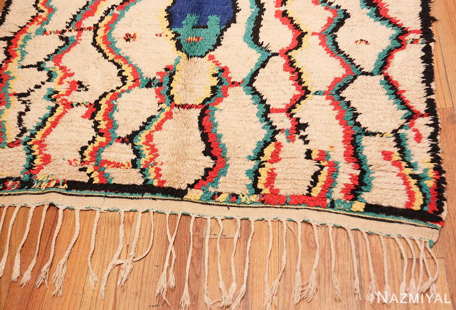 Tribal Gallery Size Vintage Berber Moroccan Rug 48948 By