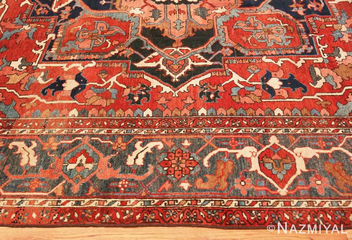 Border Large geometric Antique Persian Herz Serapi rug 48175 by Nazmiyal