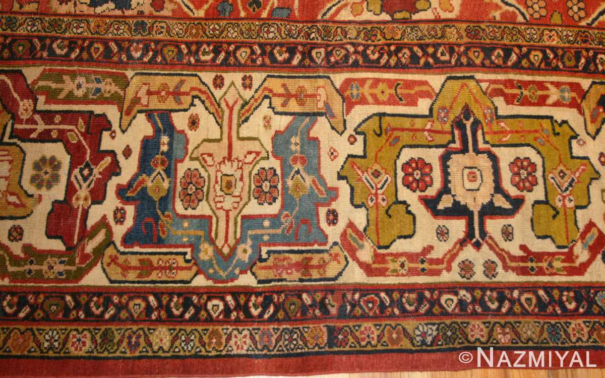 Border Oversized Antique Persian Sultanabad rug 47700 by Nazmiyal