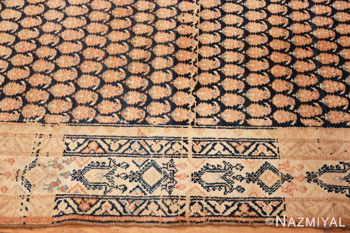 Border Tribal Paisley design Antique Persian Malayer runner rug 50671 by Nazmiyal