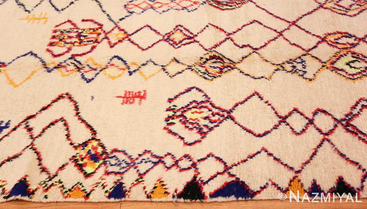 Border Vintage Shaggy Moroccan Azilal rug 48948 by Nazmiyal