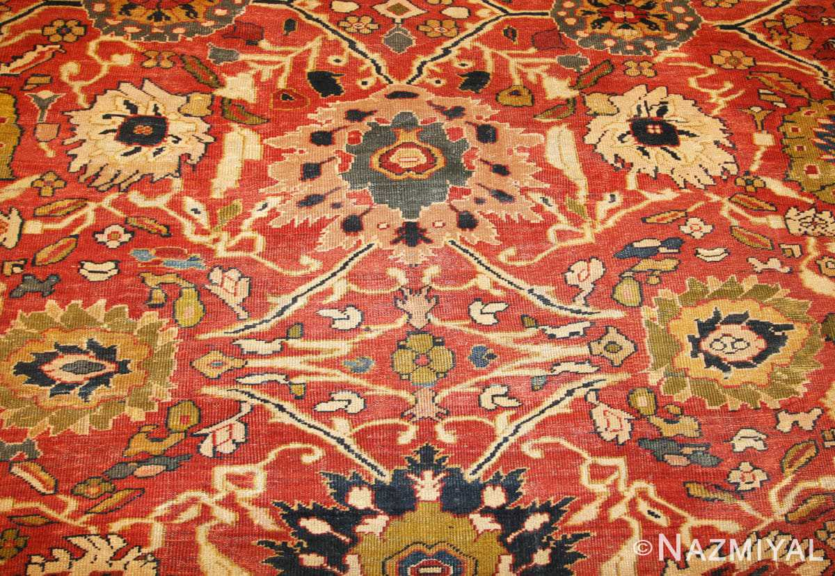 Close-up Oversized Antique Persian Sultanabad rug 47700 by Nazmiyal