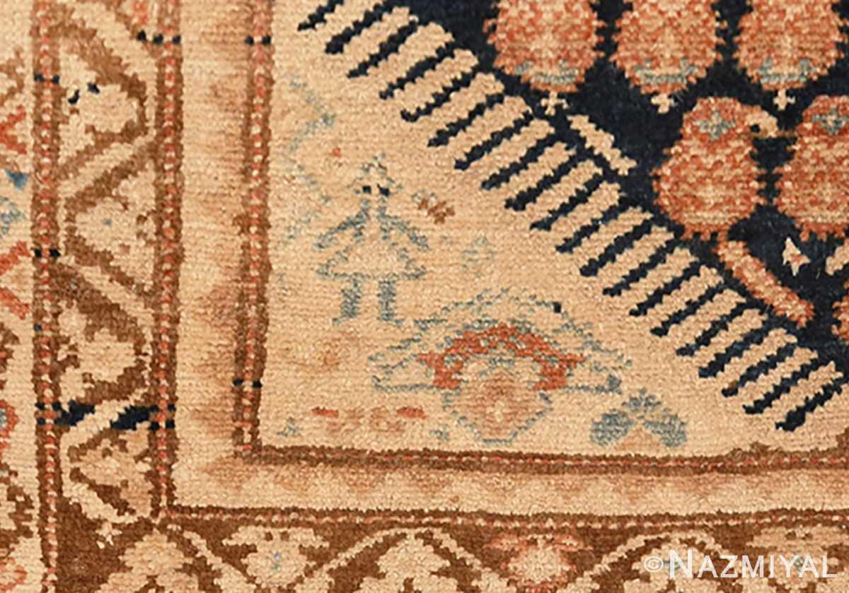Close-up Tribal Paisley design Antique Persian Malayer runner rug 50671 by Nazmiyal