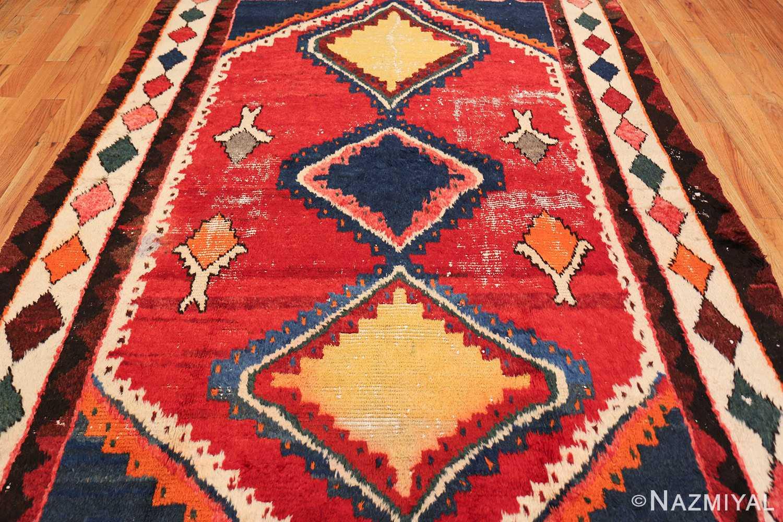 colorful shabby chic vintage persian gabbeh rug 48968 field Nazmiyal