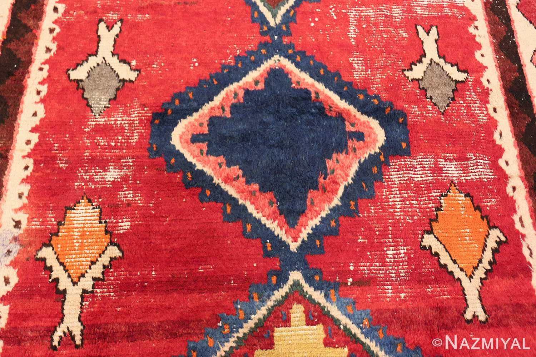 colorful shabby chic vintage persian gabbeh rug 48968 medallion Nazmiyal