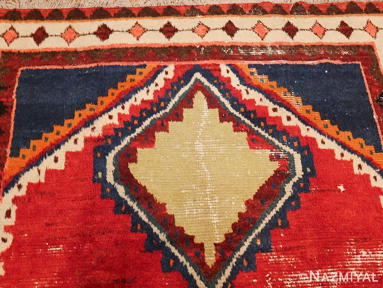 colorful shabby chic vintage persian gabbeh rug 48968 top Nazmiyal