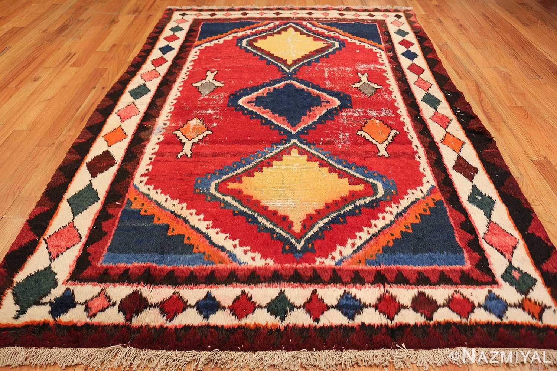 colorful shabby chic vintage persian gabbeh rug 48968 whole Nazmiyal