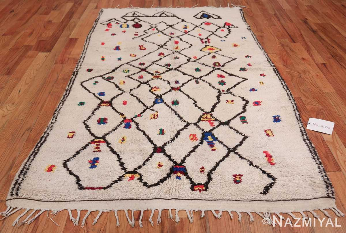 Tribal Colorful Vintage Moroccan Berber Shag Rug 48953