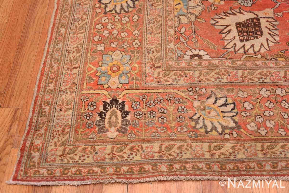 Corner Fine vase design Antique Persian Tabriz Haji Jalili rug 48868 by Nazmiyal