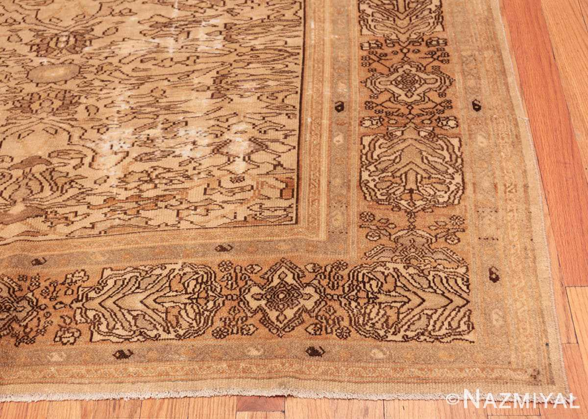 Corner Decorative Antique Persian Bibkabad Shabby chic rug 50680 by Nazmiyal