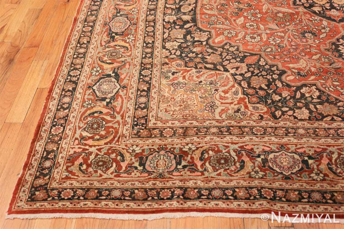 Corner Antique Persian Tabriz Central medallion rug 50663 by Nazmiyal