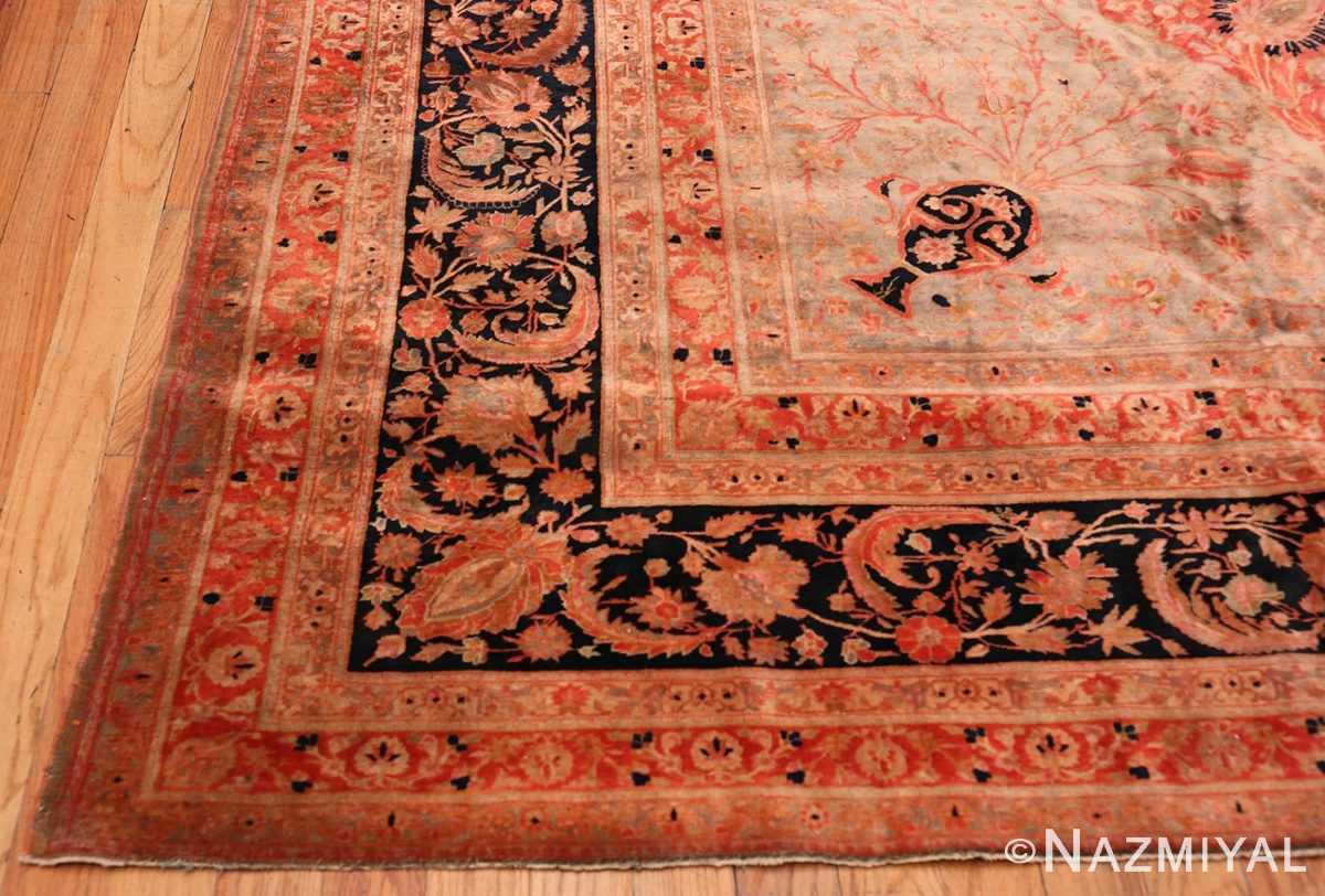 Corner Antique Persian Mohtashem Kashan rug 48844 by Nazmiyal