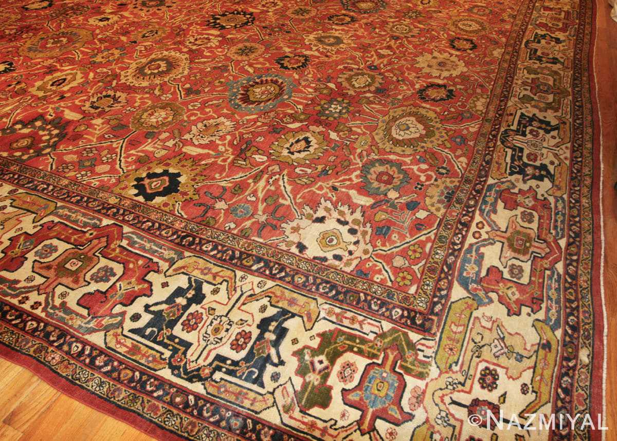 Corner Oversized Antique Persian Sultanabad rug 47700 by Nazmiyal