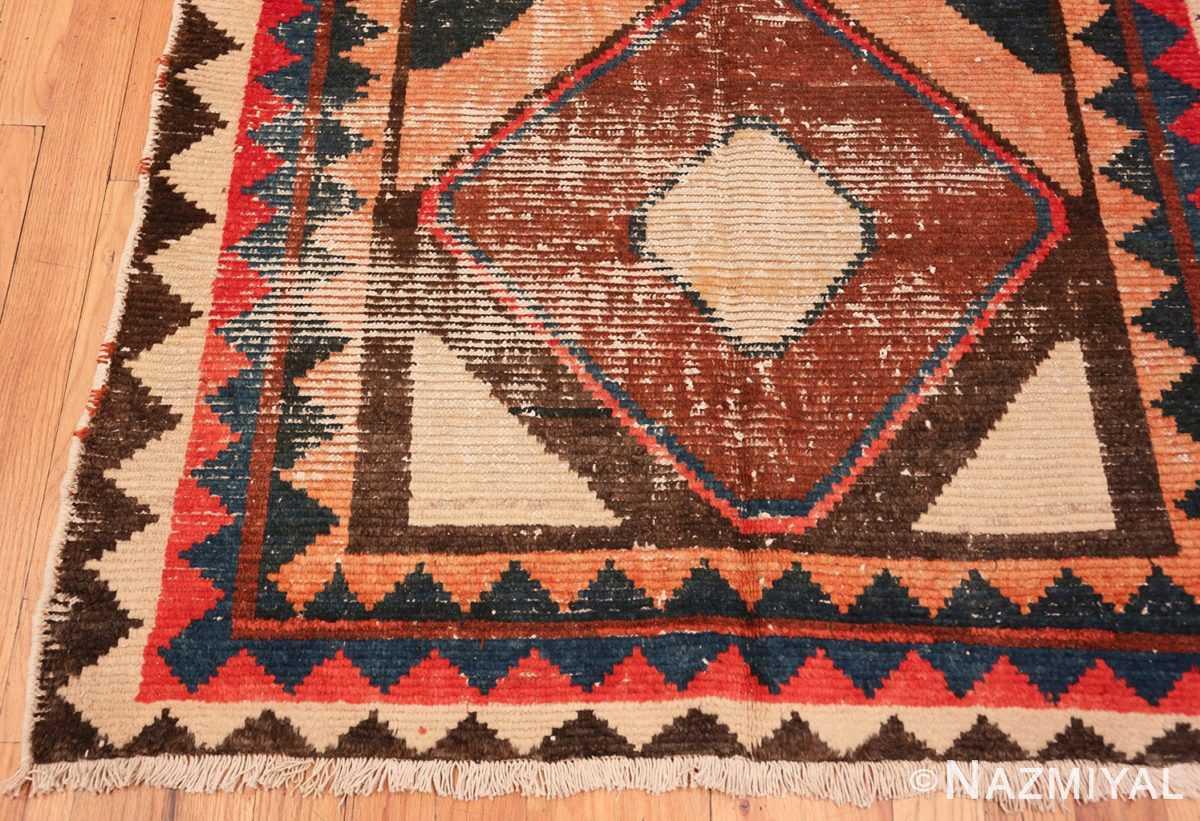 Corner Shabby chic Vintage Persian Gabbeh rug 48973 by Nazmiyal