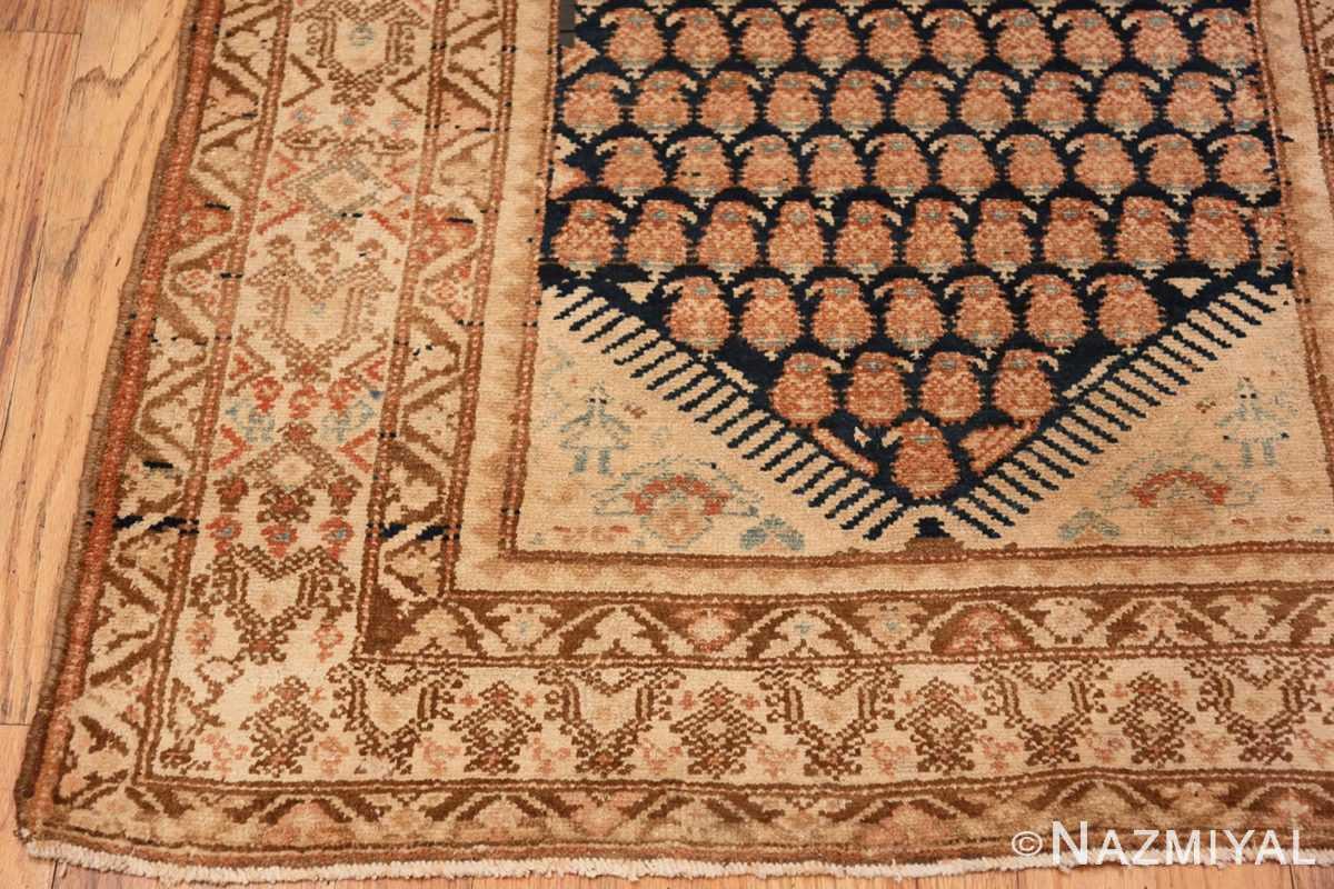 Corner Tribal Paisley design Antique Persian Malayer runner rug 50671 by Nazmiyal