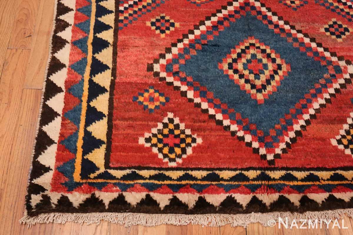 Corner Vintage tribal shabby chic Persian Gabbeh rug 48966 by Nazmiyal