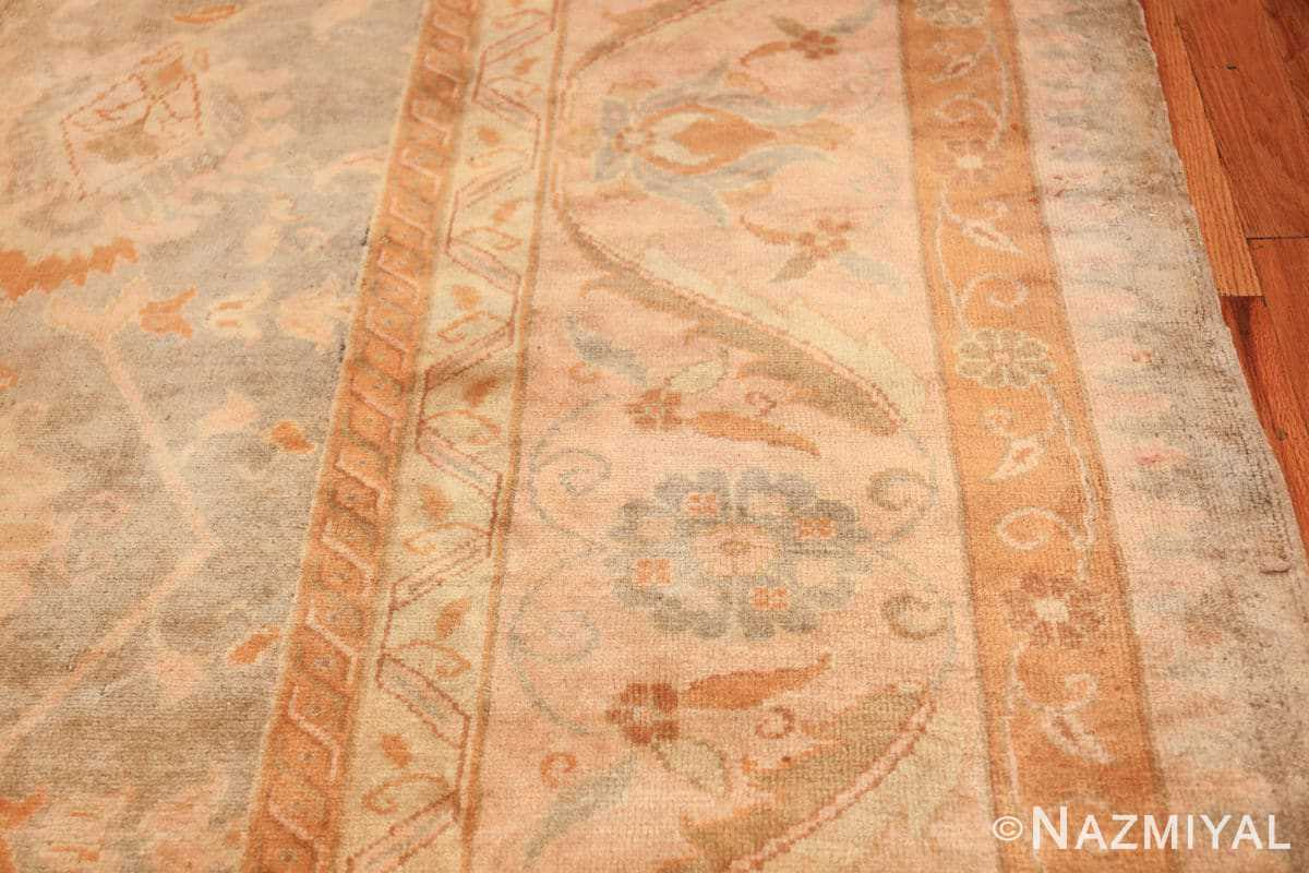 decorative antique turkish oushak rug 48941 border Nazmiyal