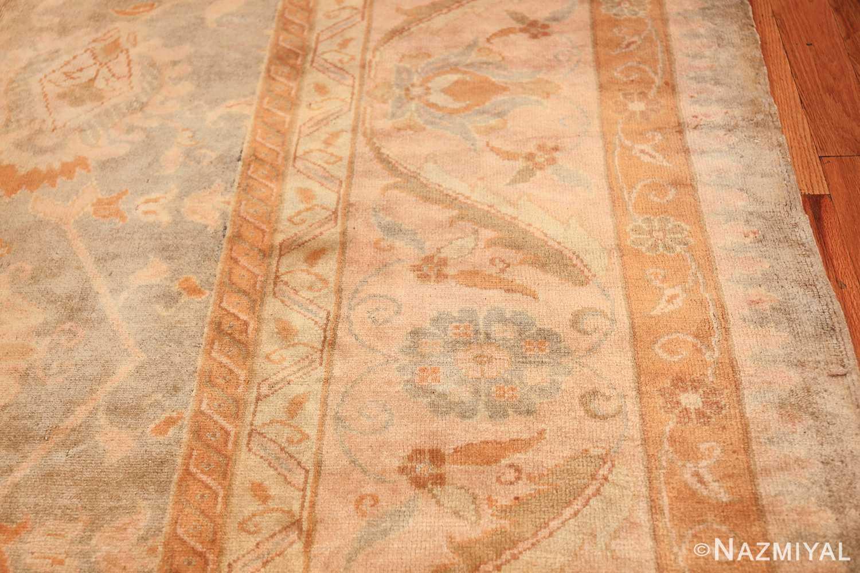 decorative antique turkish oushak rug 48941 border Nazmiyal