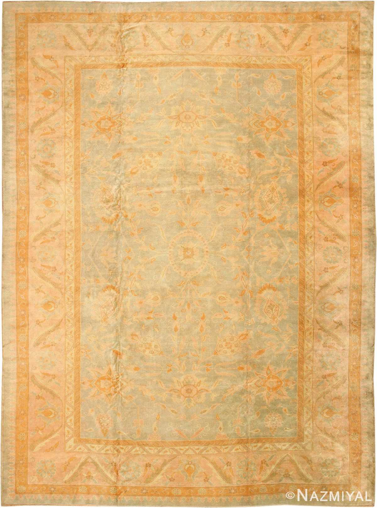 Decorative Antique Turkish Oushak Rug 48941 Nazmiyal