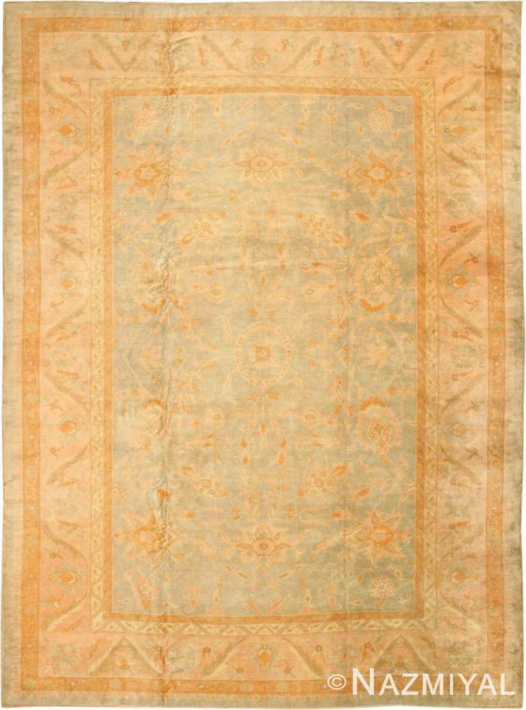 Decorative Antique Arts and Crafts Turkish Oushak Rug #48941 by Nazmiyal Antique Rugs