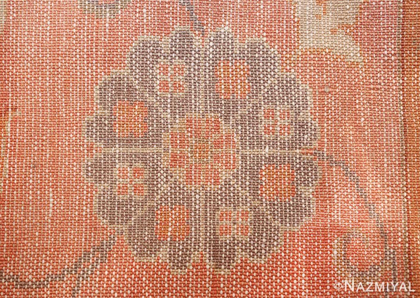 decorative antique turkish oushak rug 48941 knots Nazmiyal