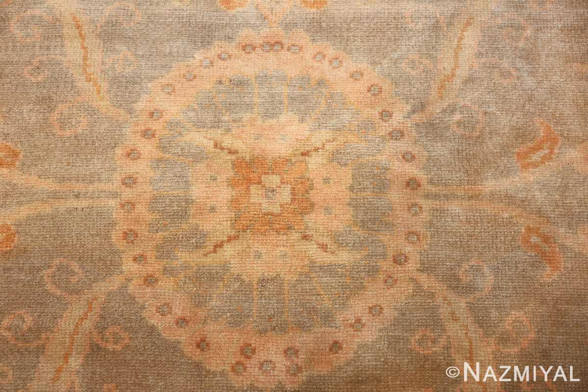 decorative antique turkish oushak rug 48941 middle Nazmiyal