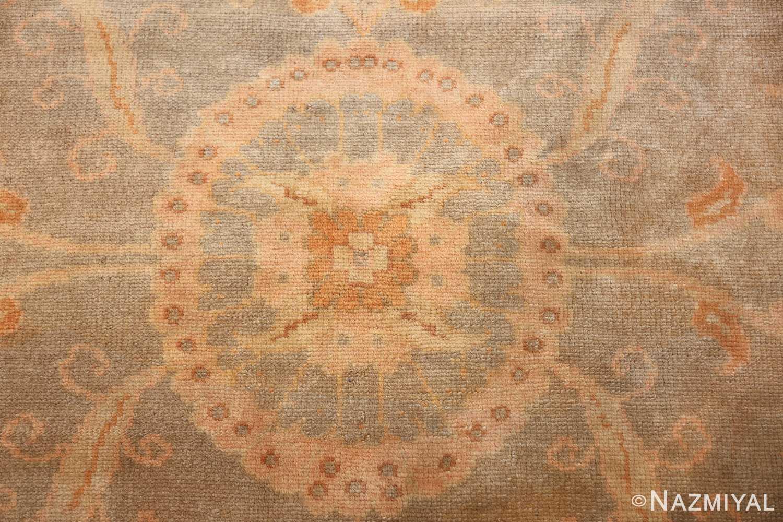 decorative antique turkish oushak rug 48941 middle Nazmiyal
