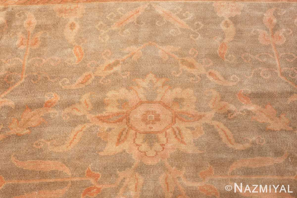 decorative antique turkish oushak rug 48941 sunflower Nazmiyal