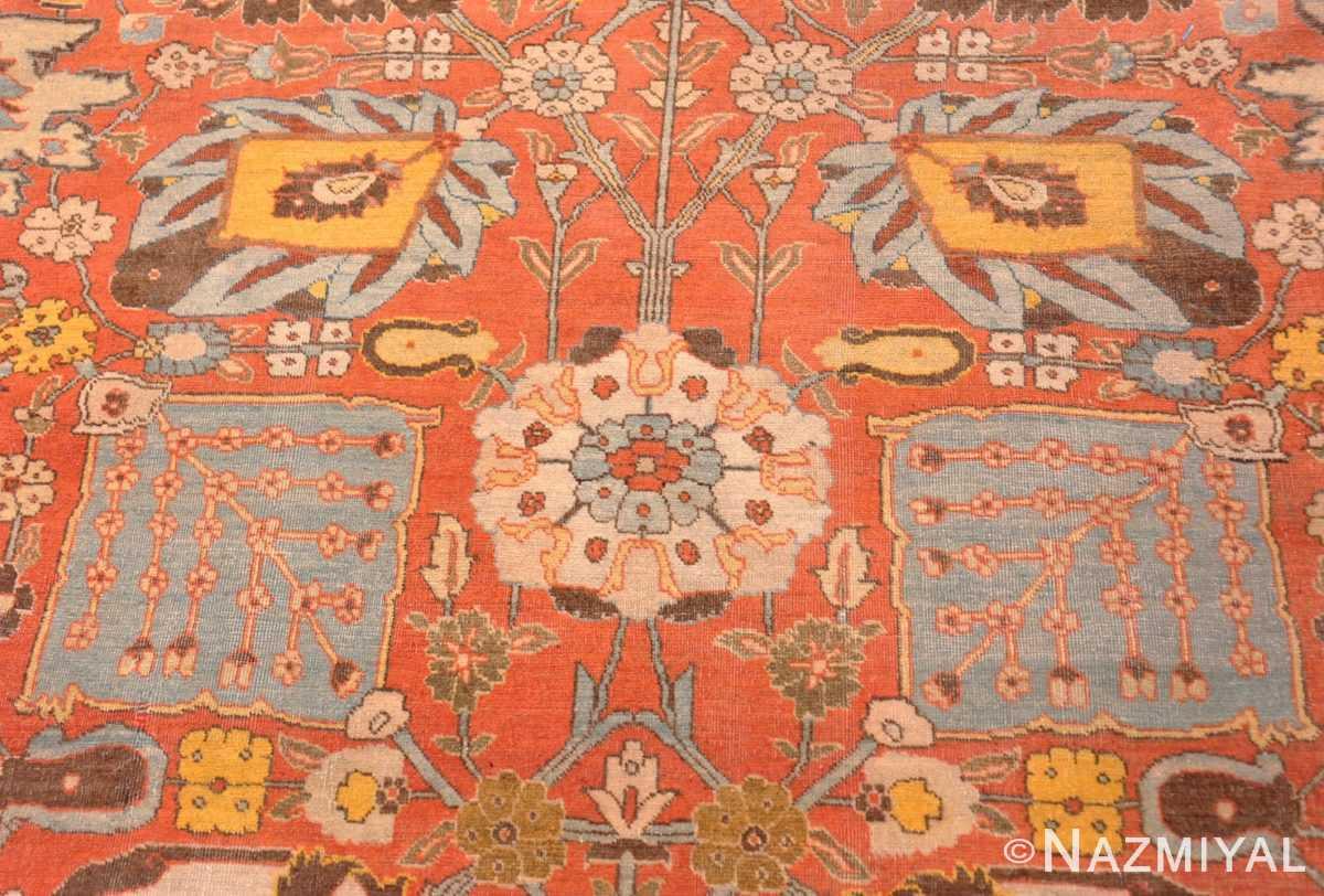 Detail Fine vase design Antique Persian Tabriz Haji Jalili rug 48868 by Nazmiyal