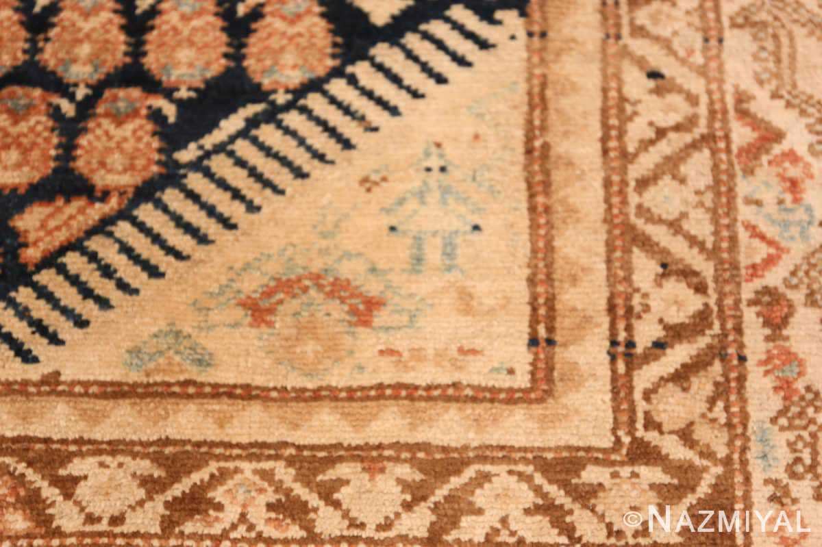 Detail Tribal Paisley design Antique Persian Malayer runner rug 50671 by Nazmiyal
