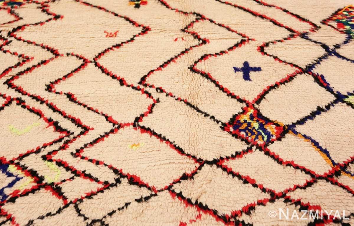 Detail Vintage Shaggy Moroccan Azilal rug 48948 by Nazmiyal