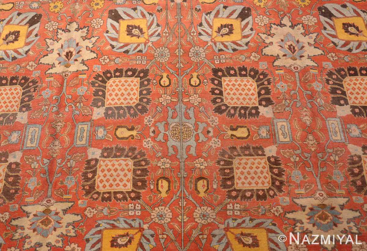 Field Fine vase design Antique Persian Tabriz Haji Jalili rug 48868 by Nazmiyal
