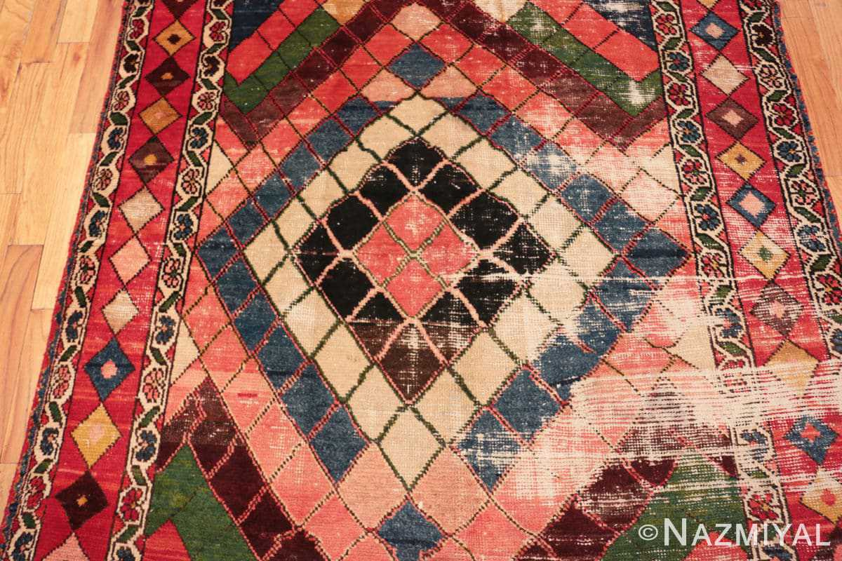Field Diamond design Vintage Tribal Persian Shabby Chic Gabbeh rug 48963 by Nazmiyal