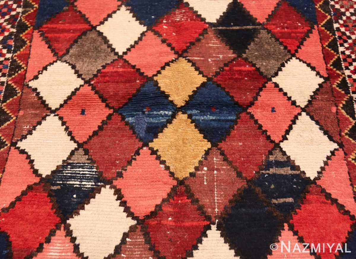 Field Diamond Shabby Chic Vintage Persian Gabbeh rug 48974 by Nazmiyal