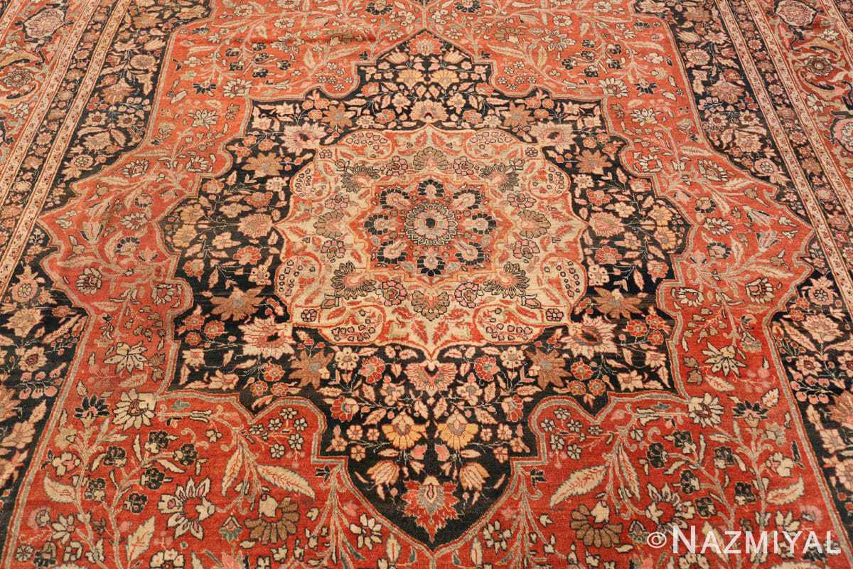 Field Antique Persian Tabriz Central medallion rug 50663 by Nazmiyal