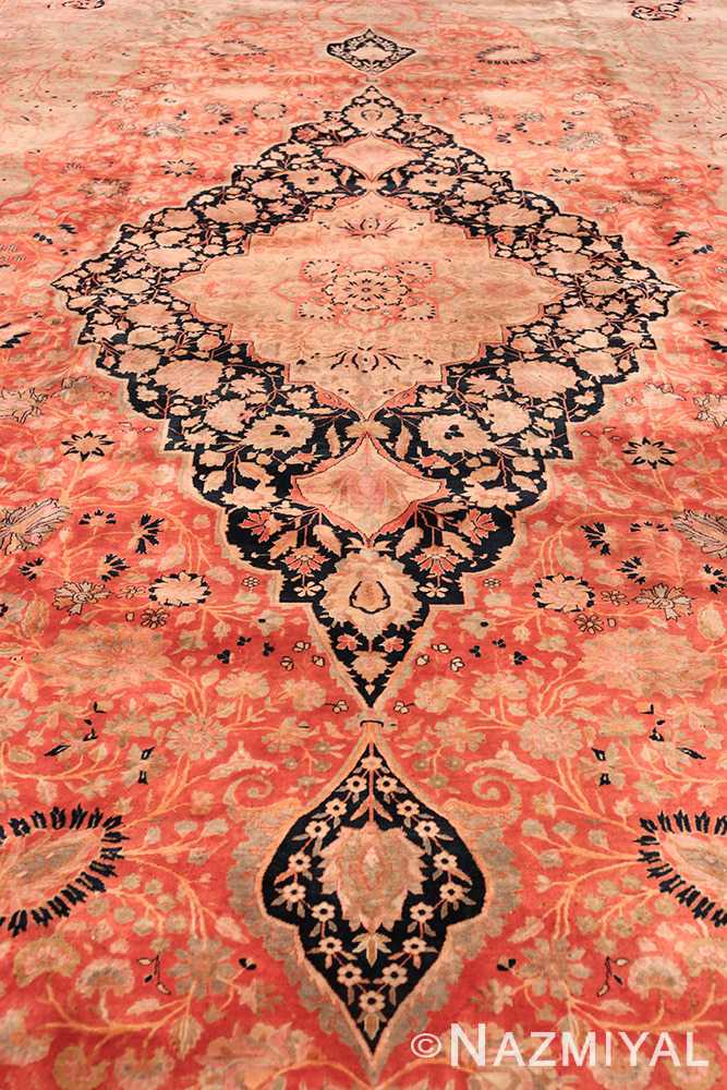 Field Antique Persian Mohtashem Kashan rug 48844 by Nazmiyal