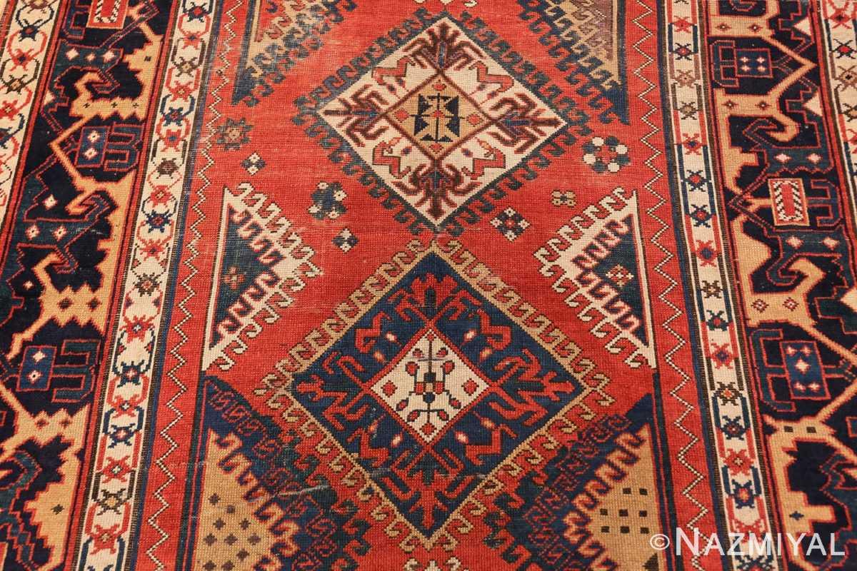Field Shabby chic tribal antique Caucasian Kazak rug 48827 by Nazmiyal