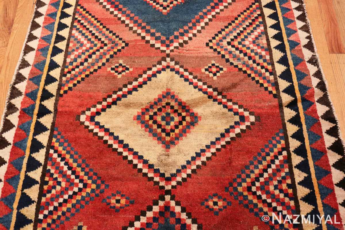 Field Vintage tribal shabby chic Persian Gabbeh rug 48966 by Nazmiyal