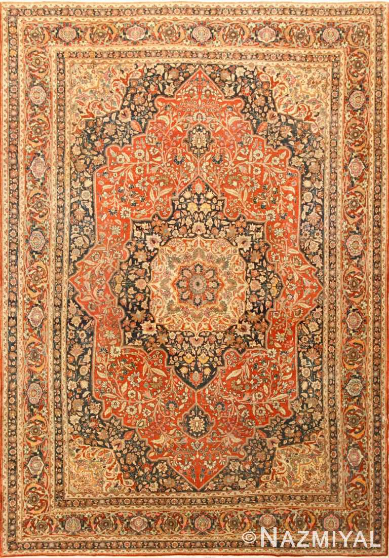 Fine Antique Persian Tabriz Central Medallion Rug 50663 Nazmiyal