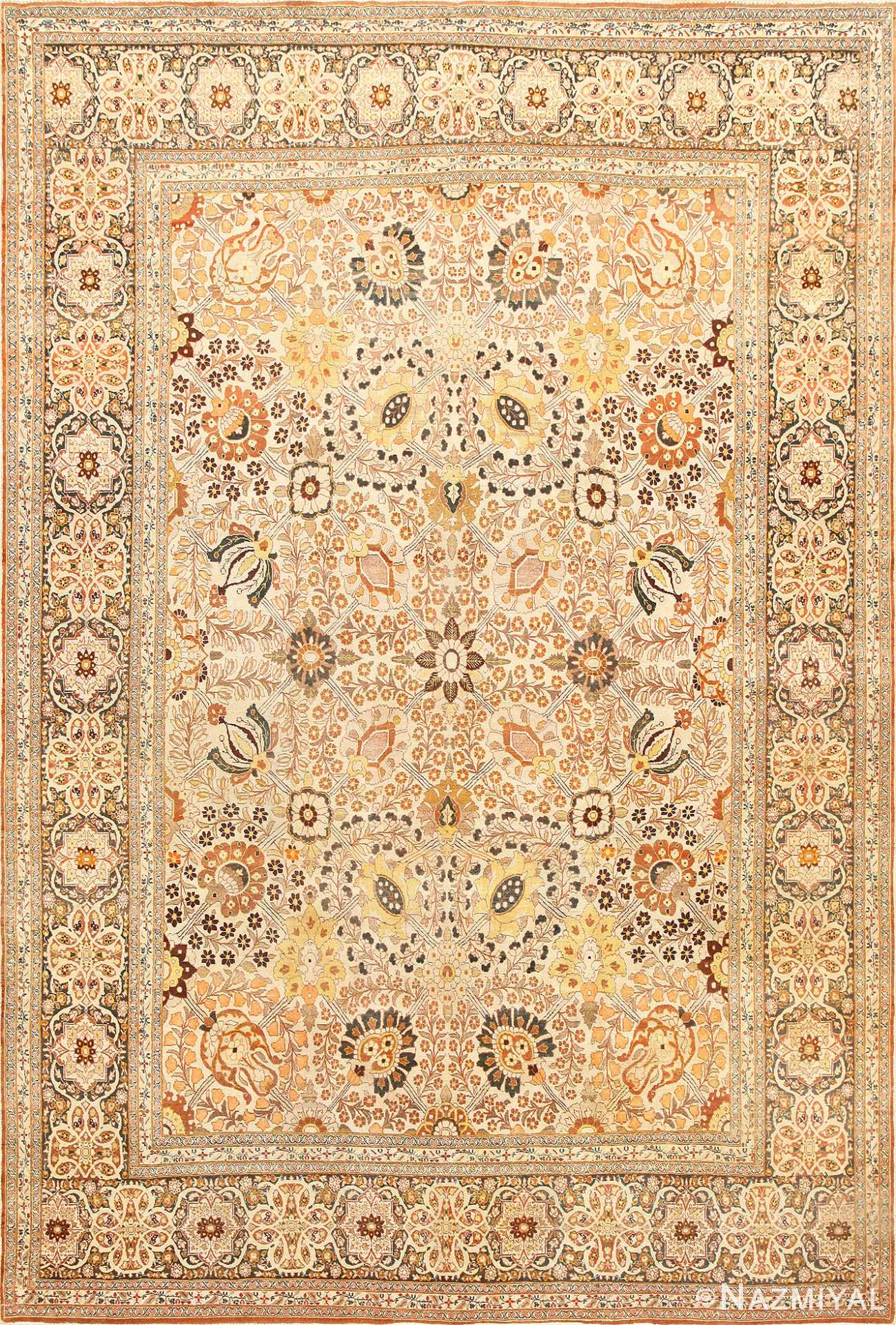 Fine Room Size Antique Persian Tabriz Rug 50696 Nazmiyal