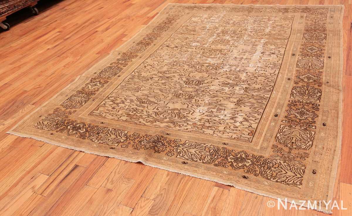 Full Decorative Antique Persian Bibkabad Shabby chic rug 50680 by Nazmiyal
