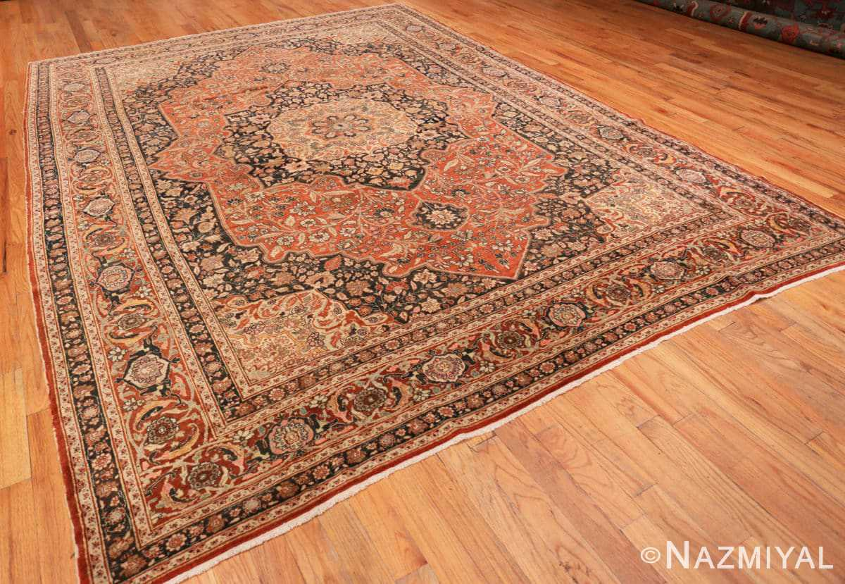 Full Antique Persian Tabriz Central medallion rug 50663 by Nazmiyal