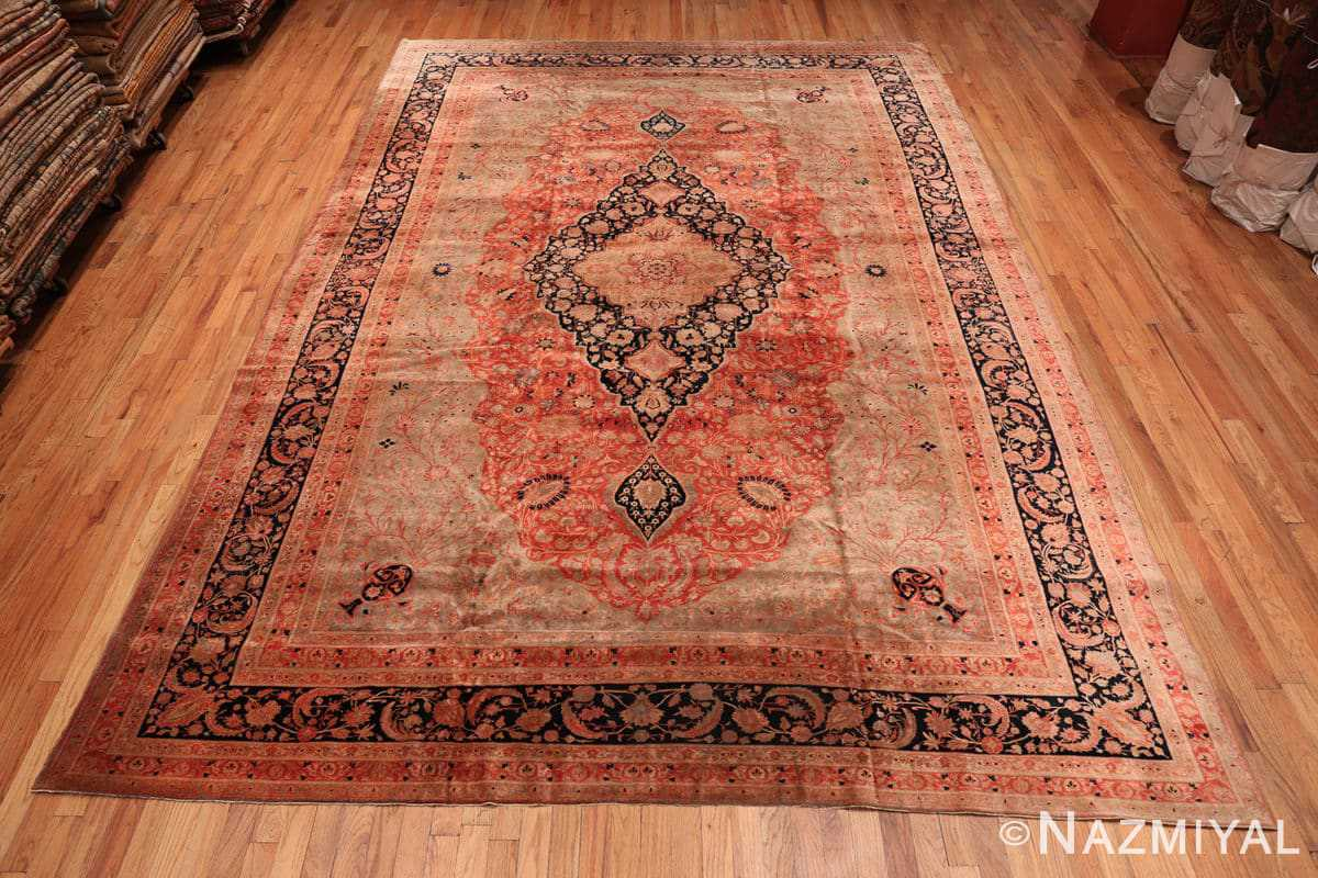 Full Antique Persian Mohtashem Kashan rug 48844 by Nazmiyal