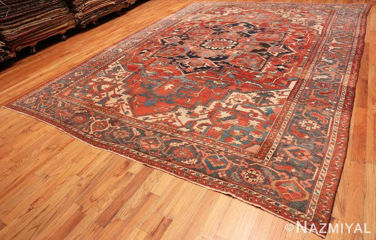 Full Large geometric Antique Persian Herz Serapi rug 48175 by Nazmiyal