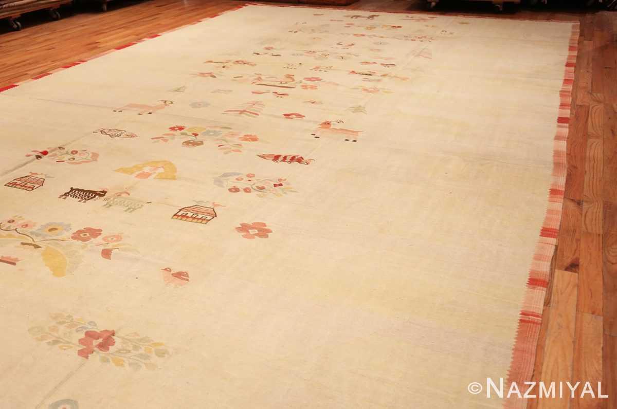 Full Large oversized vintage Folk Art Romanian Bessarabian Kilim rug 48871 by Nazmiyal