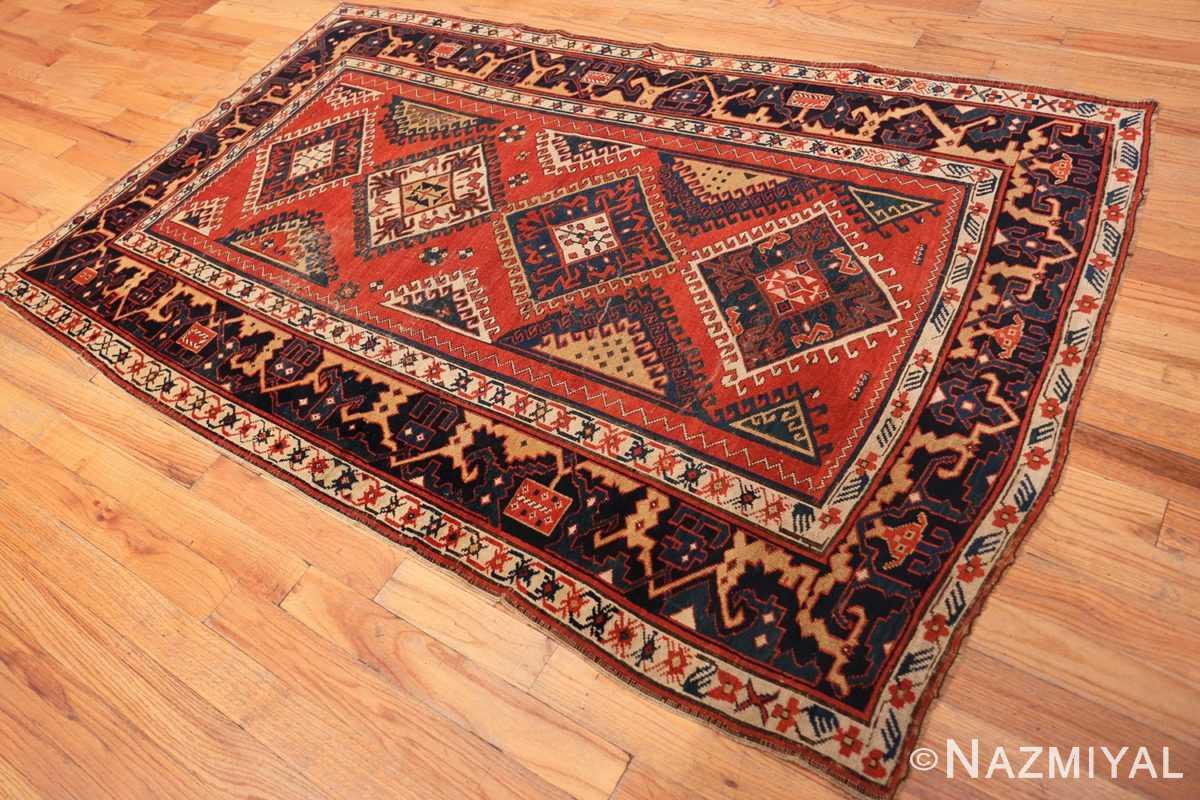 Full Shabby chic tribal antique Caucasian Kazak rug 48827 by Nazmiyal