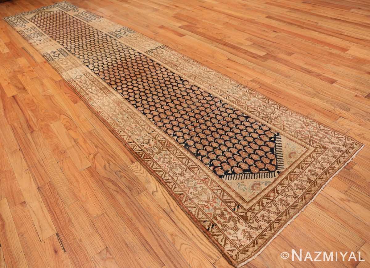 Full Tribal Paisley design Antique Persian Malayer runner rug 50671 by Nazmiyal