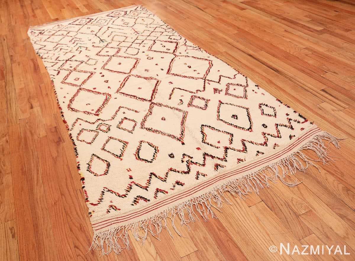 Full Vintage Beni Ourain Moroccan Berber rug 48954 by Nazmiyal