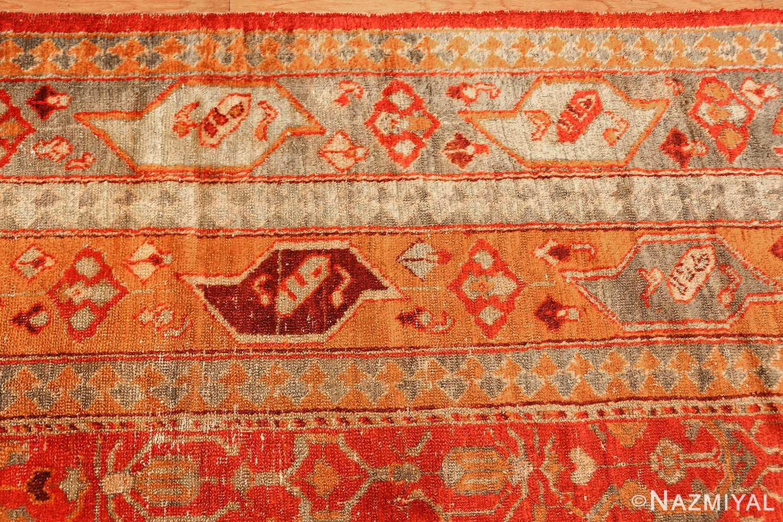 large luxurious antique turkish angora oushak rug 48923 border Nazmiyal
