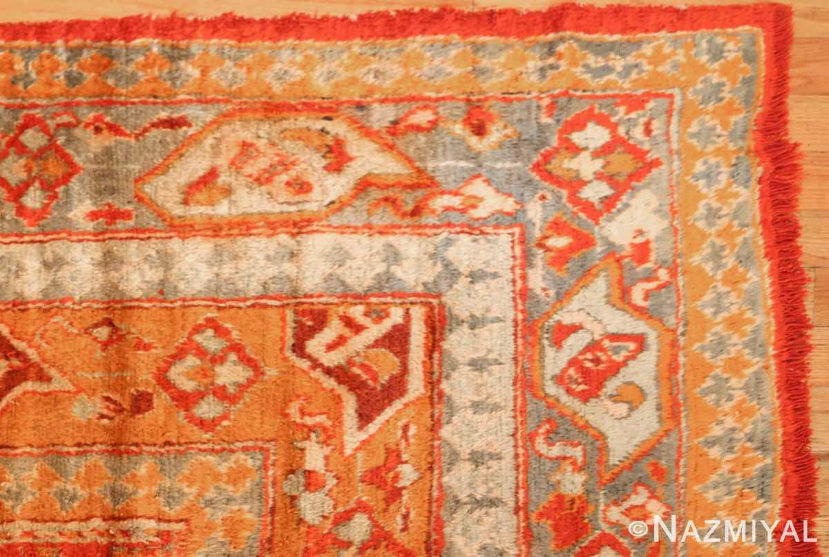 large luxurious antique turkish angora oushak rug 48923 corner Nazmiyal